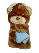 "Applause Vintage Plush Teddy Bear Puppet Hat Blankie Hang Tag 1989 11"" Sleepy"