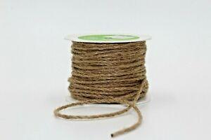 Natural Jute String 3mm Twisted Burlap Cord, Packaging String, Gifts, Per Meter