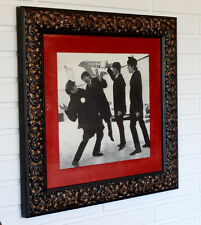Vintage THE BEATLES High Quality FRAMED PHOTOGRAPH in ITALIAN WOOD FRAME Display