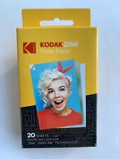 Kodak Zink Photo Paper 20 Sheets 2x3 Inch Genuine Zero Ink Technology