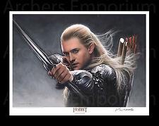 Legolas Greenleaf Litho. Hobbit, LotR. Jerry Vanderstelt. Weta Collectables. New