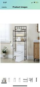 3-Tier Over The Toilet Cabinet Toilet Storage Rack Industrial Bathroom Organizer