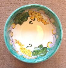 Vietri Pottery-5,3/4 Inch Bowl Roman Grape.Made/Painted by hand in Italy