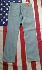 LEVIS 510 skinny Slim light Blue Denim Jeans  W 32 L 30 Levi