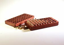 50 Rd 9mm Walnut Ammo Box ~ Auto springfield kahr glock colt ruger s&w 1911