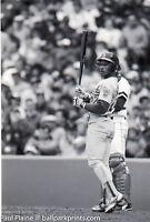 5-Original 35MM B&W Negative,Classic Batting Style Rickey Henderson 04/29/1990