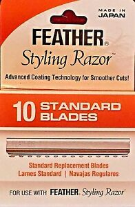 JATAI FEATHER  STANDARD STYLING RAZOR BLADES #433025 AUTHENTIC MADE IN JAPAN