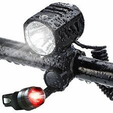 Te-Rich USB Rechargeable Bike Lights, 1200 Lumens CREE XM-L2 Bright LED HeadLigh