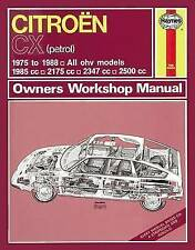 Citroen CX Owners Workshop Manual by Haynes Publishing Group (Paperback, 2012)