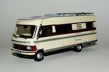 Miniature IXO CAMPING CAR L'HYMERMOBIL Type 650 Hymer Chassis MERCEDES 1985 Van