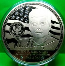JOHN F. KENNEDY CRYSTAL INLAID COMMEMORATIVE COIN PROOF VALUE $199.95