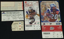 1970-2000's - MONTREAL ALOUETTES - CFL - TICKETS (5) - ORIGINAL