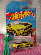 2015 FORD MUSTANG GT CONVERTIBLE #168✰Yellow✰MUSCLE✰2018 i Hot Wheels WW CASE JK