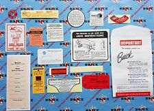 1957 2BBL Buick Engine & Interior Decal & Tag Kit | Set of 17