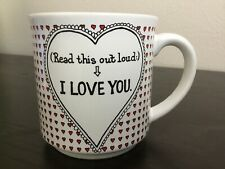 Oh, Good. I Love You, Too. Recycled Paper Products Dale Coffee Mug Japan