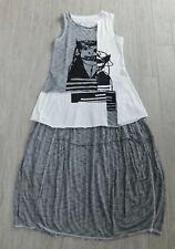 Rundholz black & white jersey top & striped balloon skirt xs