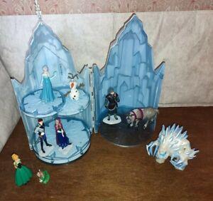 Frozen lights sounds Let It Go Ice palace Castle marshmallow figure toy playset