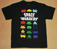 Space Invaders Colorful Aliens Shirt Large Licensed