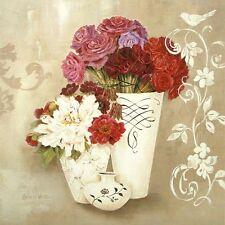 Kathryn White: Blossom Scroll Fertig-Bild 30x30 Wandbild Landhausstil Shabby
