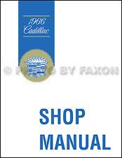 1966 Cadillac Repair Shop Manual Calais Deville Eldorado Fleetwood Sixty Special