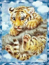 Beautiful Matted Orange Tiger Cub Foil Print~Animals~8x10~Affordable Art