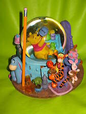 "8"" Large Disney Musical Winnie the Pooh Snow Water Globe Tigger Rabbit Figurine"
