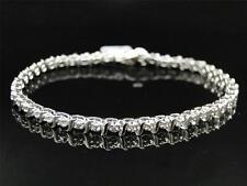 Ladies Womens White Gold Finish Genuine Diamond Tennis Bracelet 1.0 Ct
