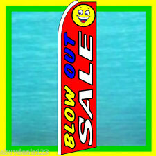 Blow Out Sale 3' Wide Swooper Flag Advertising Sign Feather Flutter Bow Banner