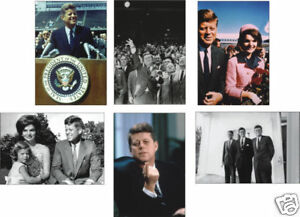 John F Kennedy US President 6 Card POSTCARD Set JFK