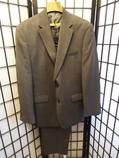 Men's Chaps Gray Matching Suit Jacket Blazer 42L & Pants Set 38 x 29  B2