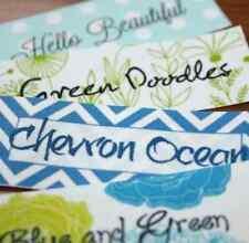 30 Custom Printed Fabric Sewing Labels