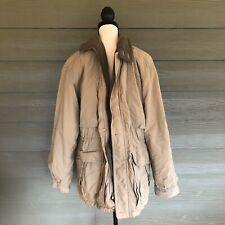 LL Bean Hunting Field Jacket Barn Coat Mens Size Medium Gore-Tex Beige Insulated