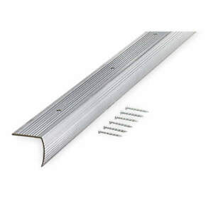 GRAINGER APPROVED 2RRW3 Stair Edging,Silver,36in W,Aluminum