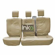 Land Rover Discovery 4 Rear 60/40 Inka Tailored Waterproof Seat Covers Beige