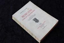 MUSICIENS D'HIER et D'AUJOURD'HUI par Adolphe JULLIEN - Lib. FISCHBACHER 1910