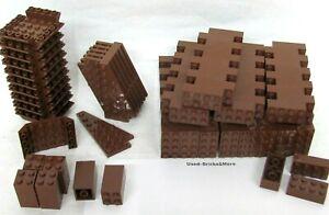 LEGO Konvolut Alt Braun / brown / Schräg - Steine Platten Brick neuwertig used