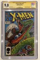 Uncanny X-Men #223 CGC 9.0 SS RARE Dan Green Autograph 1987