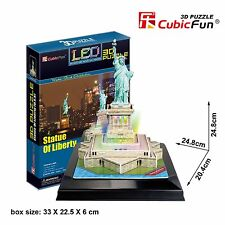 New LED Light Statue of Liberty USA 3D Model Paper Jigsaw Puzzle 37 Pieces L505H