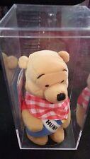 "NEW W/ PLASTIC CASE  Disney Store Picnic Winnie The Pooh Mini Bean Bag Plush 8"""