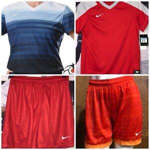 New Nike Youth M Dri-Fit Striker IV Soccer Futbol Jersey Navy Shorts Shirt $75
