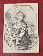 Antico Santino inciso su pergamena di Santa Lucia