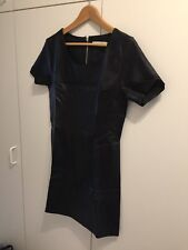 Short leather look dress - new