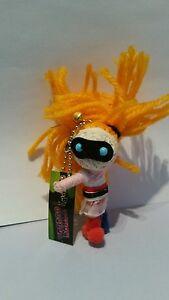 Arkham Asylum Harley Quinn Voodoo Doll Keyring KeyChain keyfob charm string wool