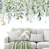 Green Leaves Wall Stickers For Bedroom Living Room DIY Wall Decals Door Mu hs