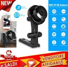 IP CAM Camera WiFi Mini TELECAMERA WIRELESS con staffa V380 Q1 720P MOTION SD