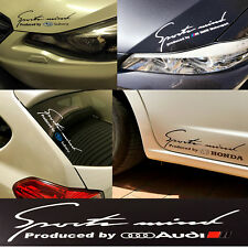 Reflective Stylish Decal Sticker Sport Mind Audi Emblem H: 9cm x W: 25cm Silver