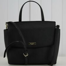 Kate Spade Laurel Way Saffiano Leather Satchel Crossbody Handbag Black Shoulder
