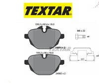 2456101 Kit pastiglie freno a disco post.Bmw (MARCA-TEXTAR)