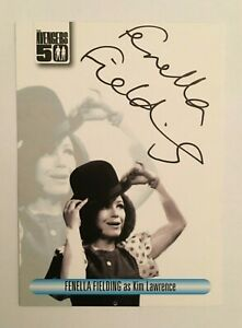 Fenella Fielding The Avengers 50th Anniversary Autograph Signed Card