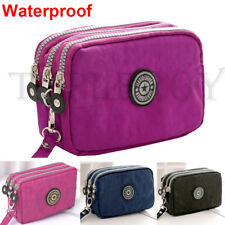 Waterproof Wristlet Case Handbag Clutch  Cosmetic Phone Purse Wallets Makeup Bag